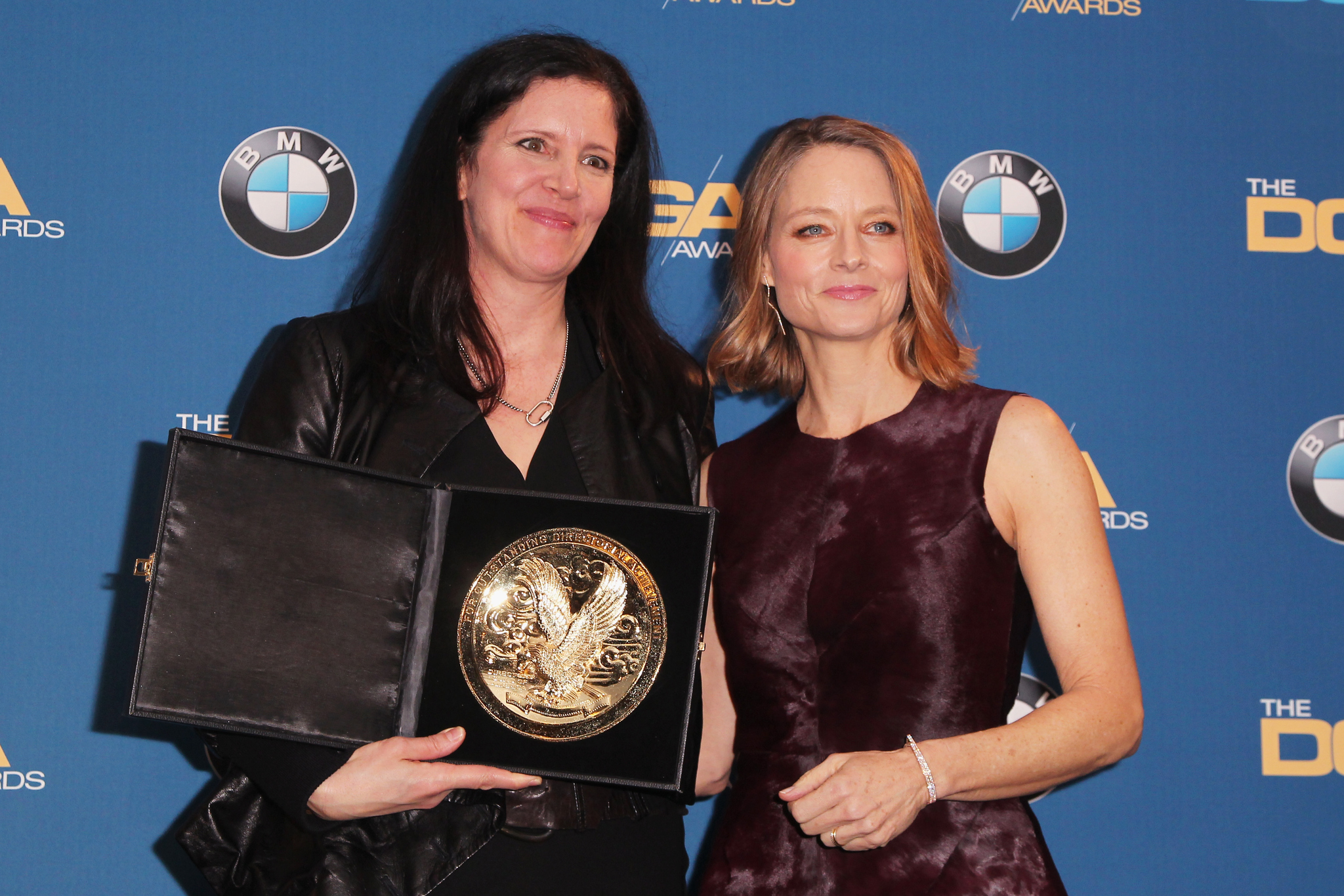 Jodie Foster and Laura Poitras at an event for Citizenfour (2014)