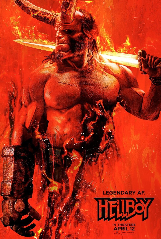 Image result for hellboy movie poster david harbour