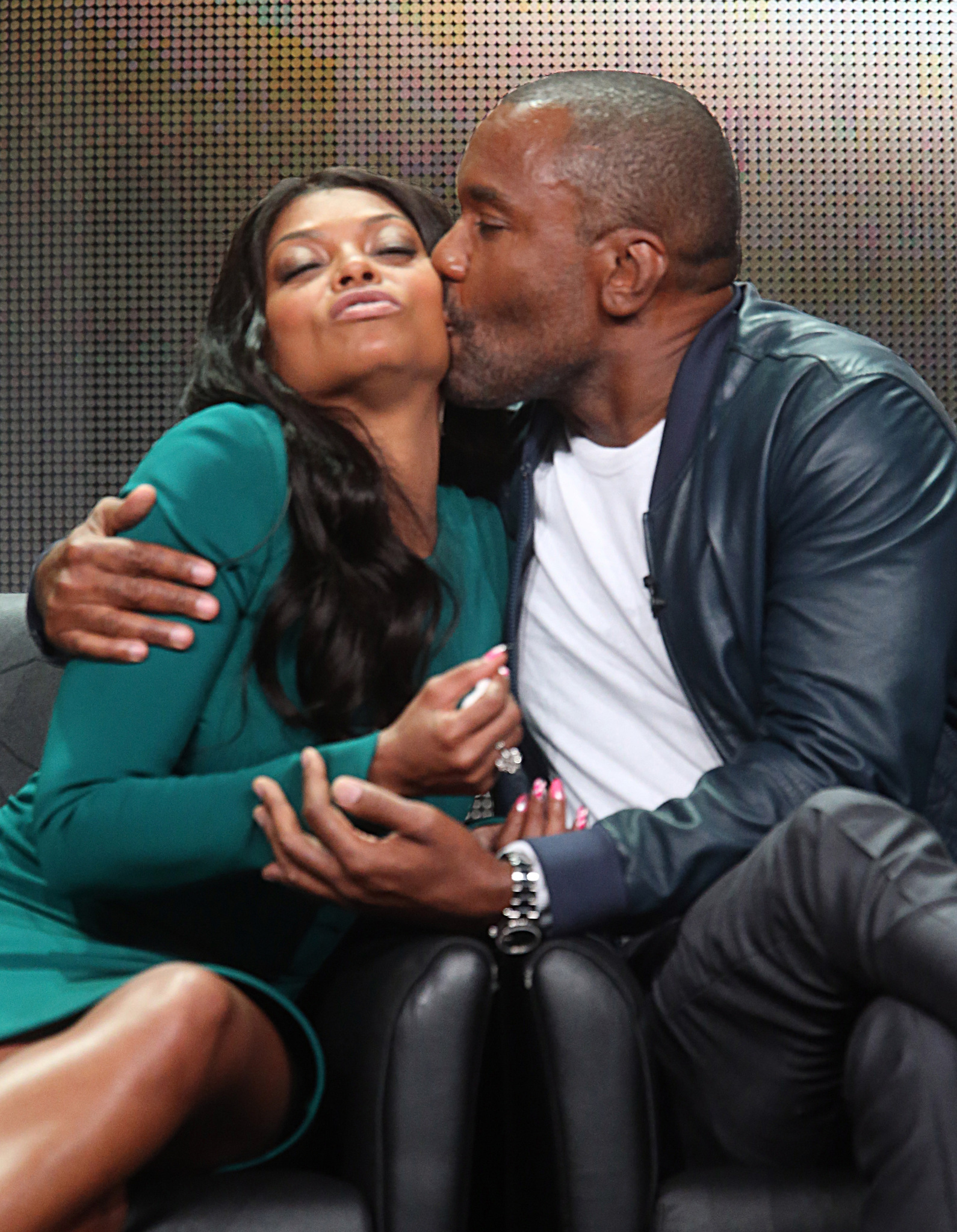 Lee Daniels and Taraji P. Henson at an event for Empire (2015)