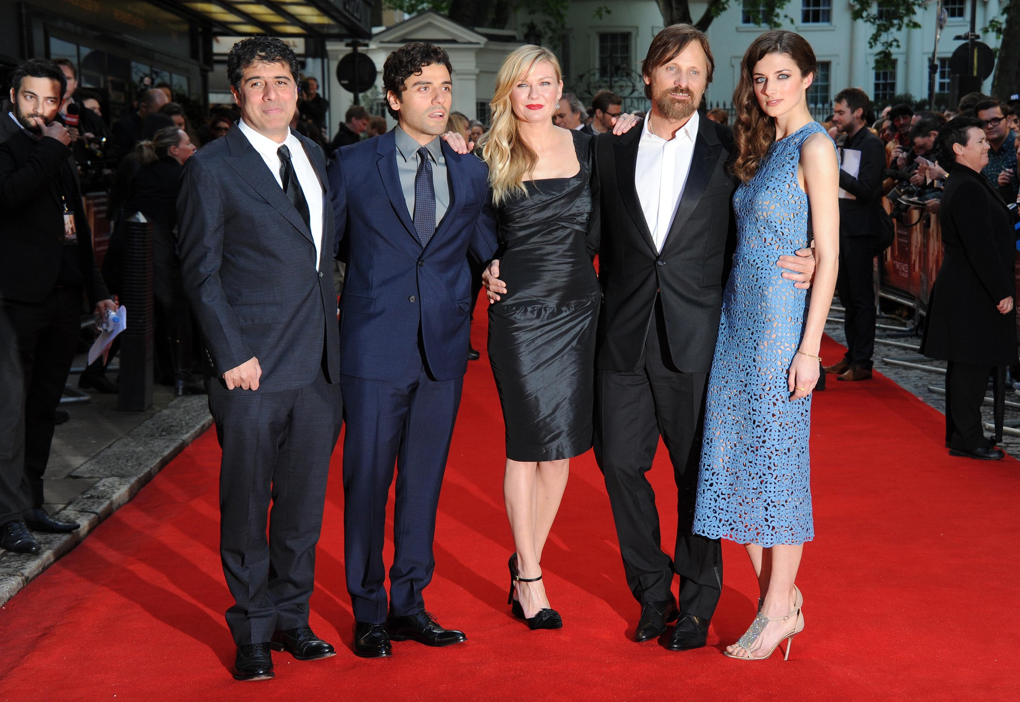 Kirsten Dunst, Viggo Mortensen, Hossein Amini, Daisy Bevan, and Oscar Isaac at an event for The Two Faces of January (2014)