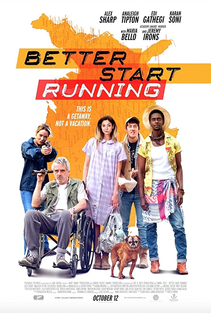 Jeremy Irons, Maria Bello, Edi Gathegi, Analeigh Tipton, and Alex Sharp in Better Start Running (2018)