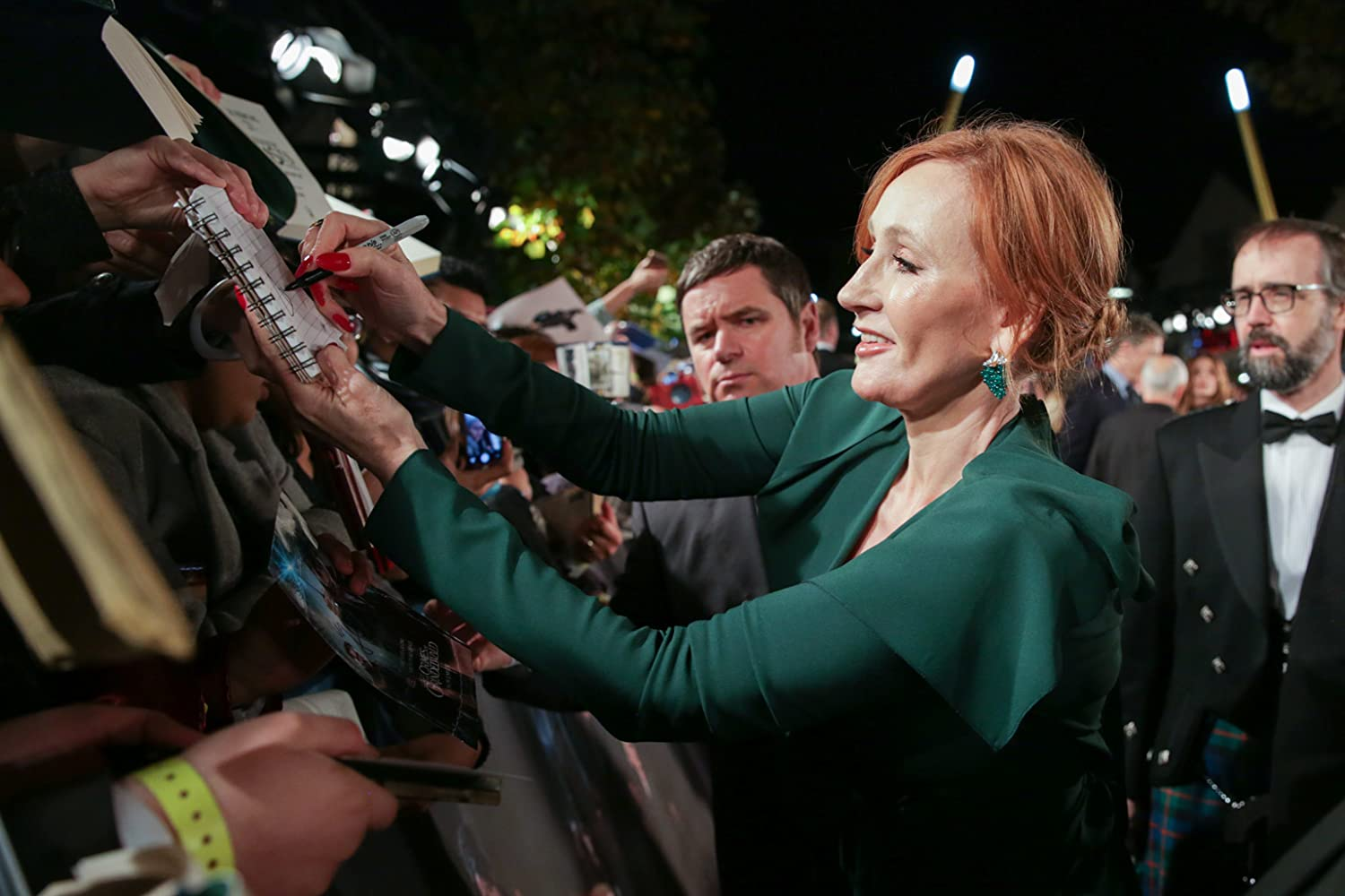 J.K. Rowling at an event for Fantastic Beasts: The Crimes of Grindelwald (2018)