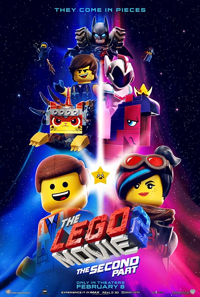 Will Arnett, Elizabeth Banks, Charlie Day, Nick Offerman, Chris Pratt, Alison Brie, Tiffany Haddish, and Stephanie Beatriz in The Lego Movie 2: The Second Part (2019)