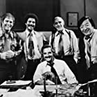 Abe Vigoda, Max Gail, Ron Glass, Hal Linden, and Jack Soo in Barney Miller (1975)
