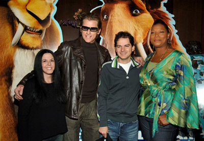 Queen Latifah, Denis Leary, Carlos Saldanha, and Lori Forte at an event for Ice Age: The Meltdown (2006)