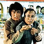 Jackie Chan and Yuen Chor in Ging chaat goo si (1985)