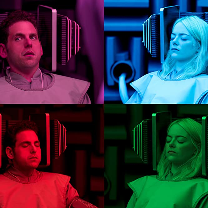 Emma Stone and Jonah Hill in Maniac (2018)