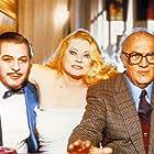 Federico Fellini, Marcello Mastroianni, and Anita Ekberg in Intervista (1987)