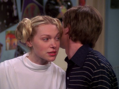 Topher Grace and Laura Prepon in That '70s Show (1998)