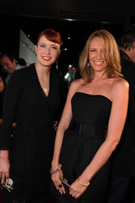 Toni Collette and Diablo Cody at an event for United States of Tara (2009)