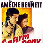 Don Ameche and Joan Bennett in Confirm or Deny (1941)