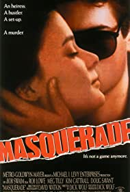 Rob Lowe and Meg Tilly in Masquerade (1988)