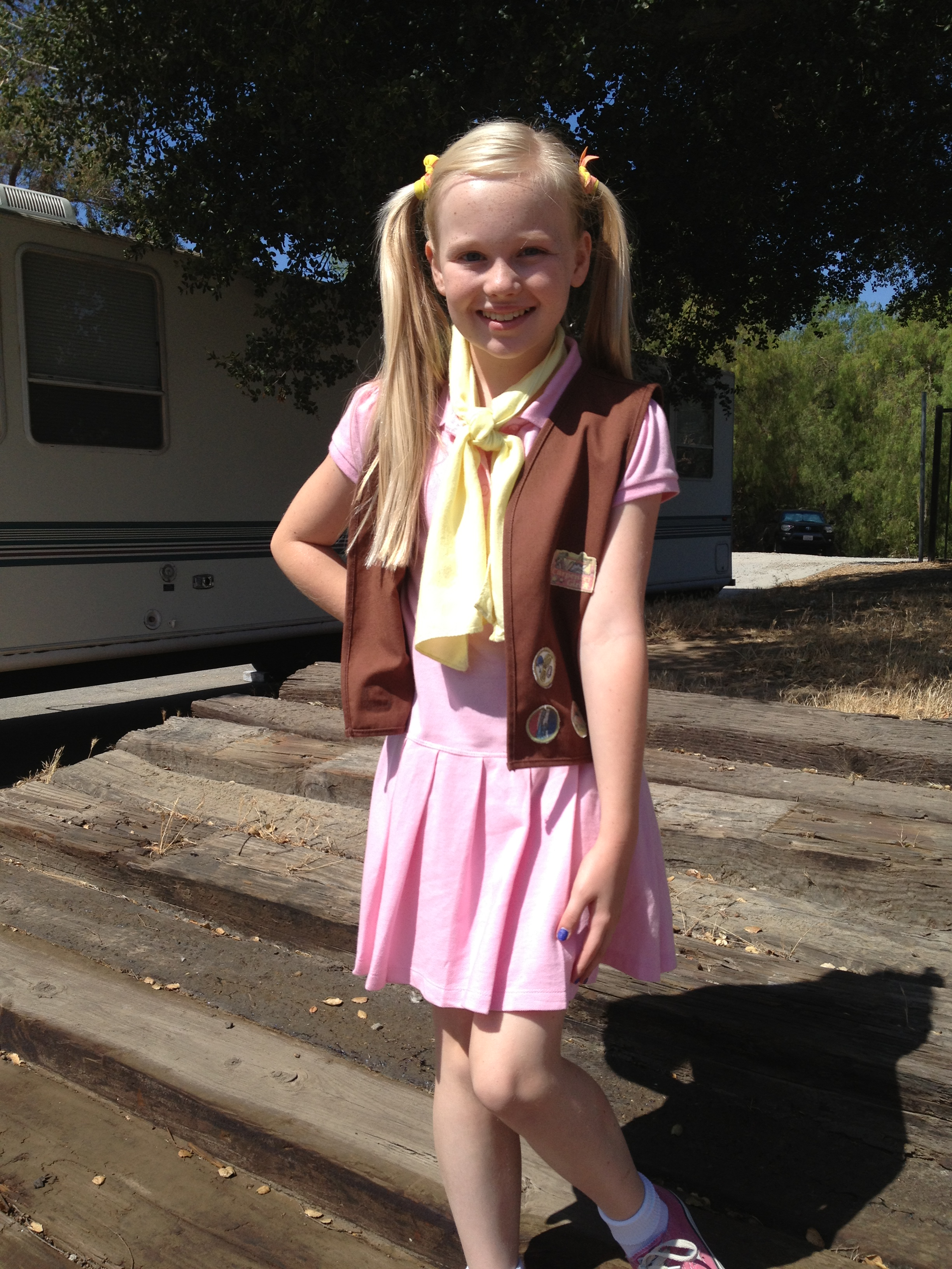 "Danielle Parker on the set The Cookie Mobster as Penelope ""Ping"""