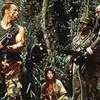Arnold Schwarzenegger, Carl Weathers, Elpidia Carrillo, and Bill Duke in Predator (1987)