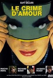 Le crime d'amour Poster