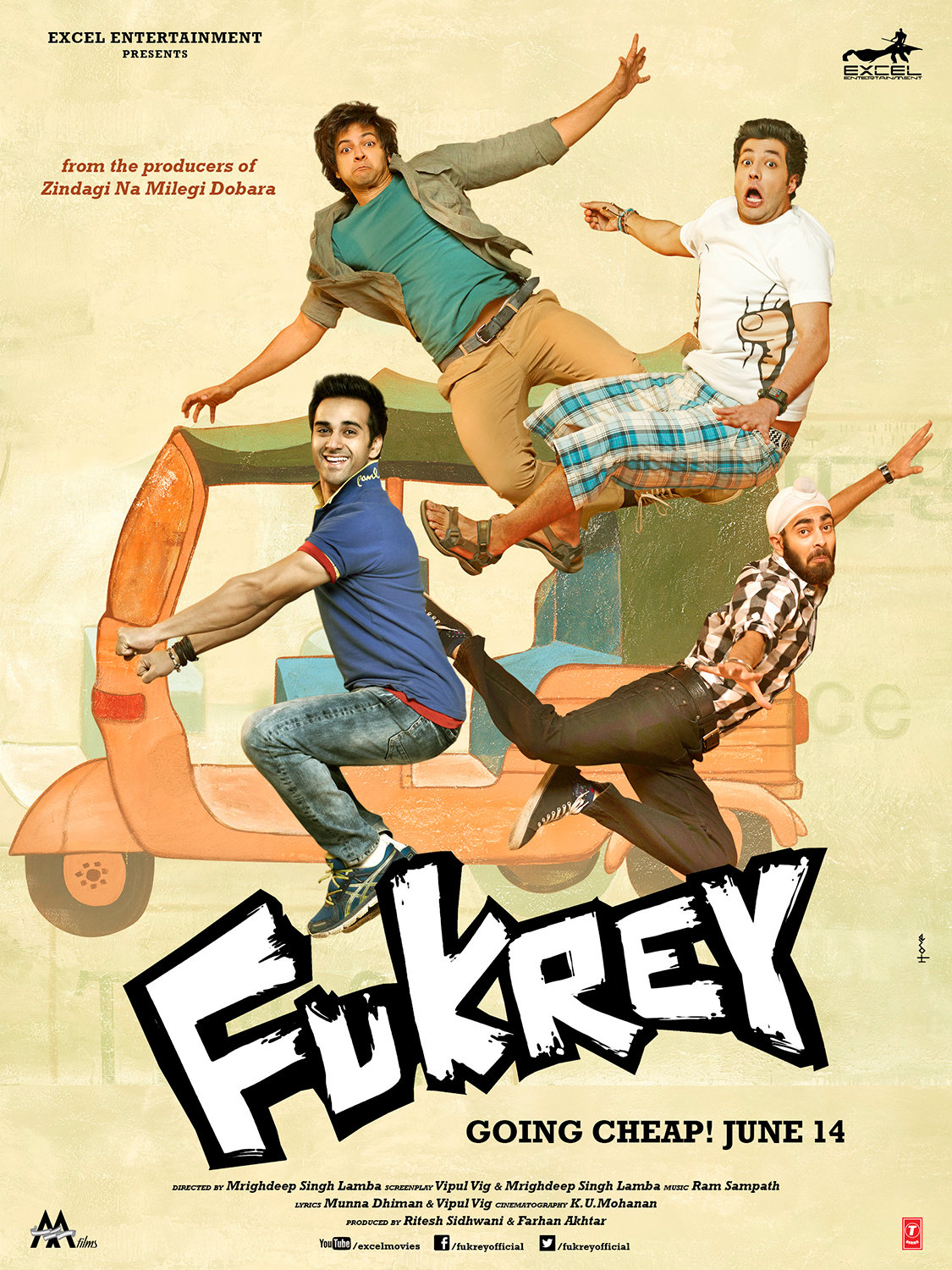 Image result for fukrey 2013 poster