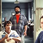 """Brian Vincent as Pinky with Mike Starr and director John Gallagher in """"The Deli"""""""