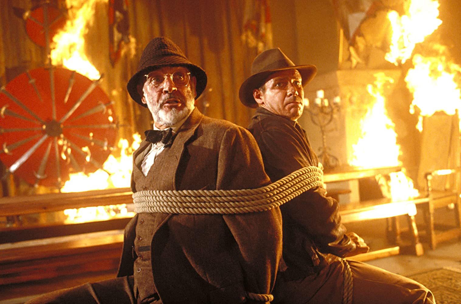 Sean Connery and Harrison Ford in Indiana Jones and the Last Crusade (1989)