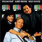 Holly Hunter, William Hurt, and Albert Brooks in Broadcast News (1987)