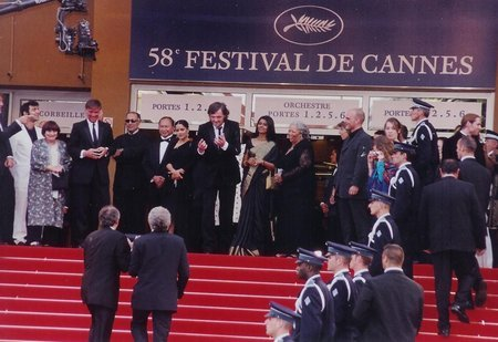 On Podium, Cannes Grand Jury Includes Salma Hayek And Others Handing Out The Palme D'Or ~ Cannes Most Prestigious Prize For The Film: L'Enfants, Kaya F. Redford (Picture Right)