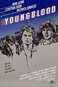 Rob Lowe, Patrick Swayze, and Cynthia Gibb in Youngblood (1986)