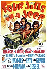 Kay Francis, Carole Landis, Mitzi Mayfair, and Martha Raye in Four Jills in a Jeep (1944)