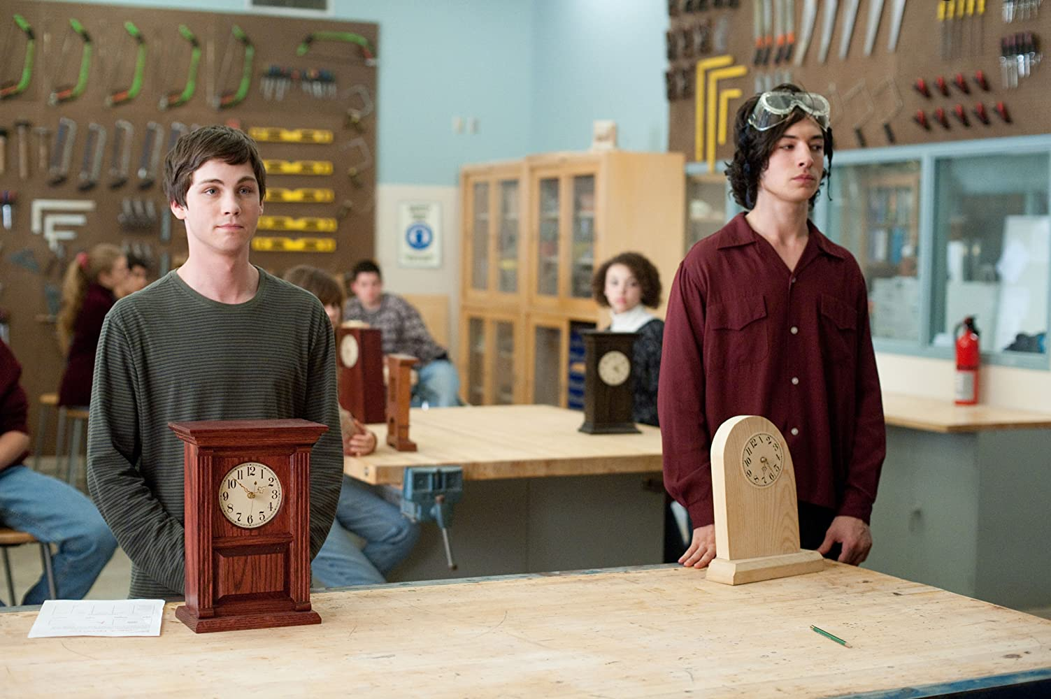 Logan Lerman and Ezra Miller in The Perks of Being a Wallflower (2012)