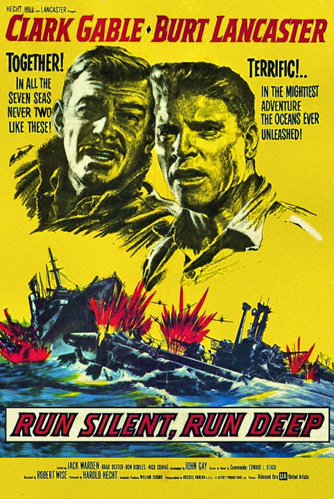 Clark Gable and Burt Lancaster in Run Silent Run Deep (1958)