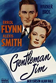 Errol Flynn and Alexis Smith in Gentleman Jim (1942)