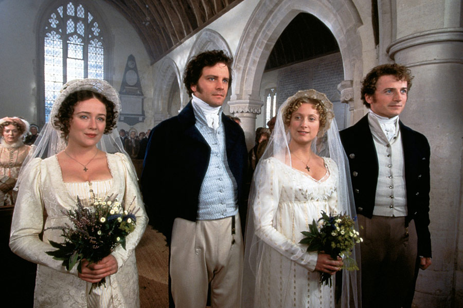 Colin Firth, Jennifer Ehle, Crispin Bonham-Carter, Susannah Harker, and Alison Steadman in Pride and Prejudice (1995)