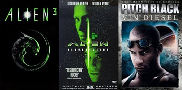 English movie film free download Alien 3, Alien Resurrection and Pitch Black [480x640]