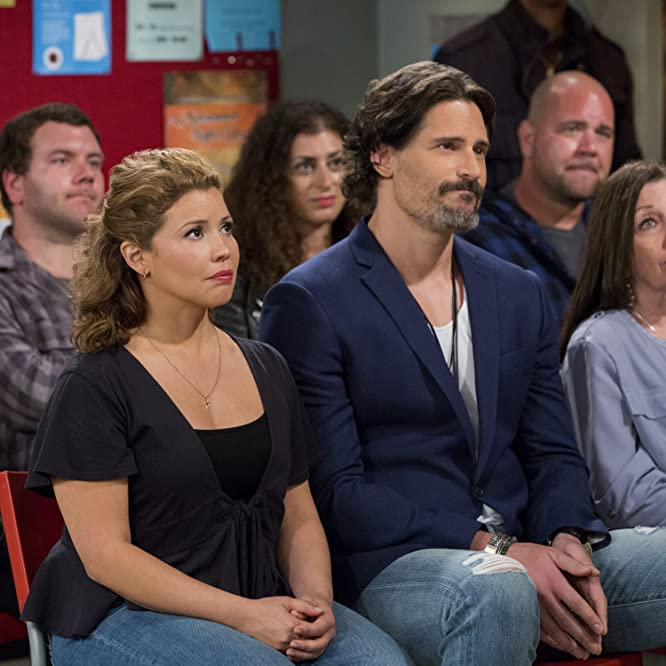 Justina Machado and Joe Manganiello in One Day at a Time (2017)