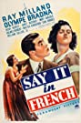 Say It in French (1938) Poster