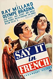 Say It in French (1938) starring Ray Milland on DVD on DVD