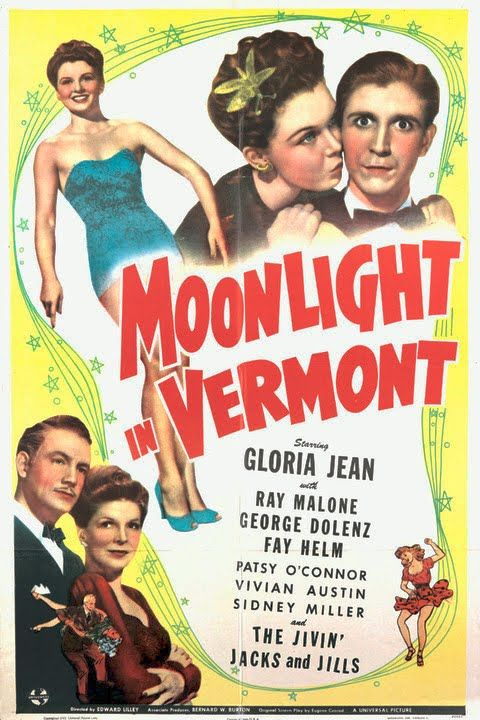 George Dolenz, Fay Helm, Gloria Jean, and Ray Malone in Moonlight in Vermont (1943)