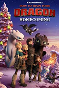 Jay Baruchel, America Ferrera, Liam Ferguson, and Madalyn Gonzalez in How to Train Your Dragon: Homecoming (2019)