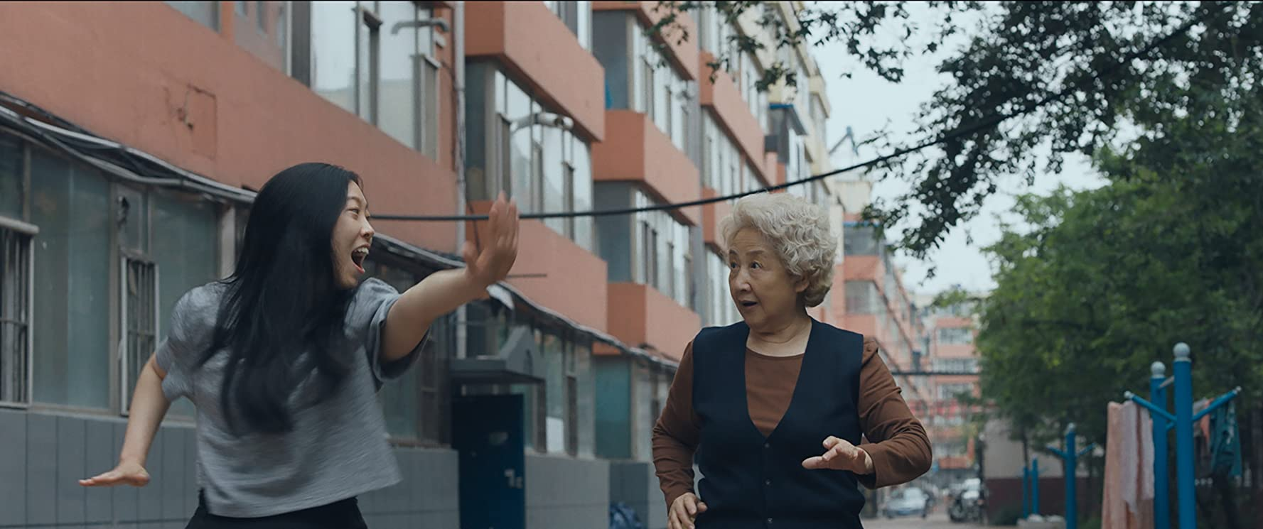 Zhao Shuzhen and Awkwafina in The Farewell (2019)