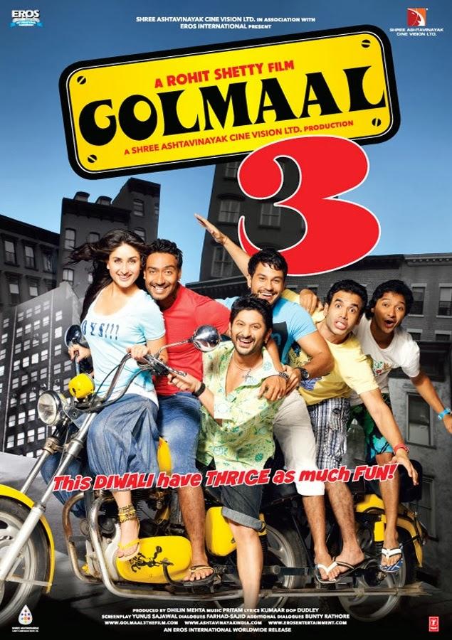 Golmaal 3 2010 Hindi 454MB BluRay ESubs Download