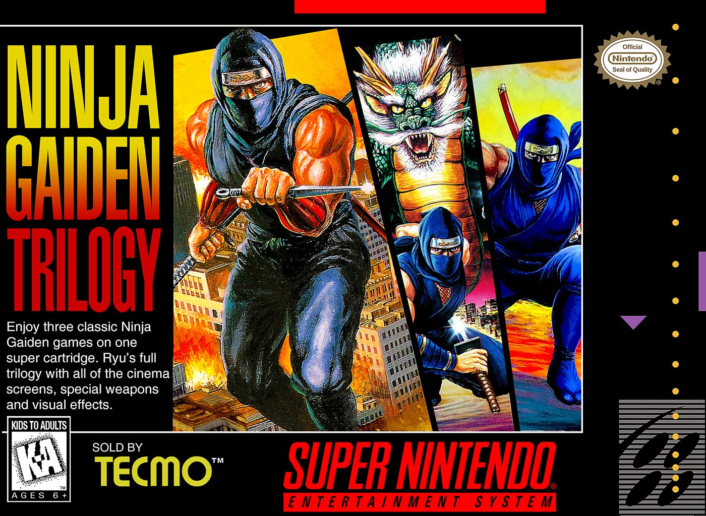 Ninja Gaiden Trilogy Video Game 1995 Imdb