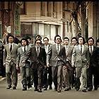 Choi Min-sik, Kim Jong-goo, Ha Jung-woo, Kwon Tae-won, Cho Jin-woong, Ma Dong-seok, Seong-gyoon Kim, and Jongsoo Kim in Bumchoiwaui junjaeng: Nabbeunnomdeul jeonsungshidae (2012)