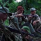 Mickey Rooney, James Mitchum, and Hugh O'Brian in Ambush Bay (1966)
