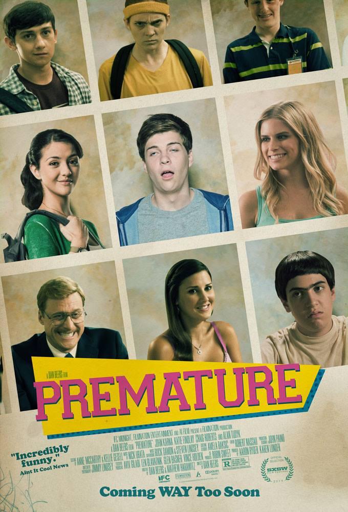Zoe Myers, Katie Findlay, and John Karna in Premature (2014)
