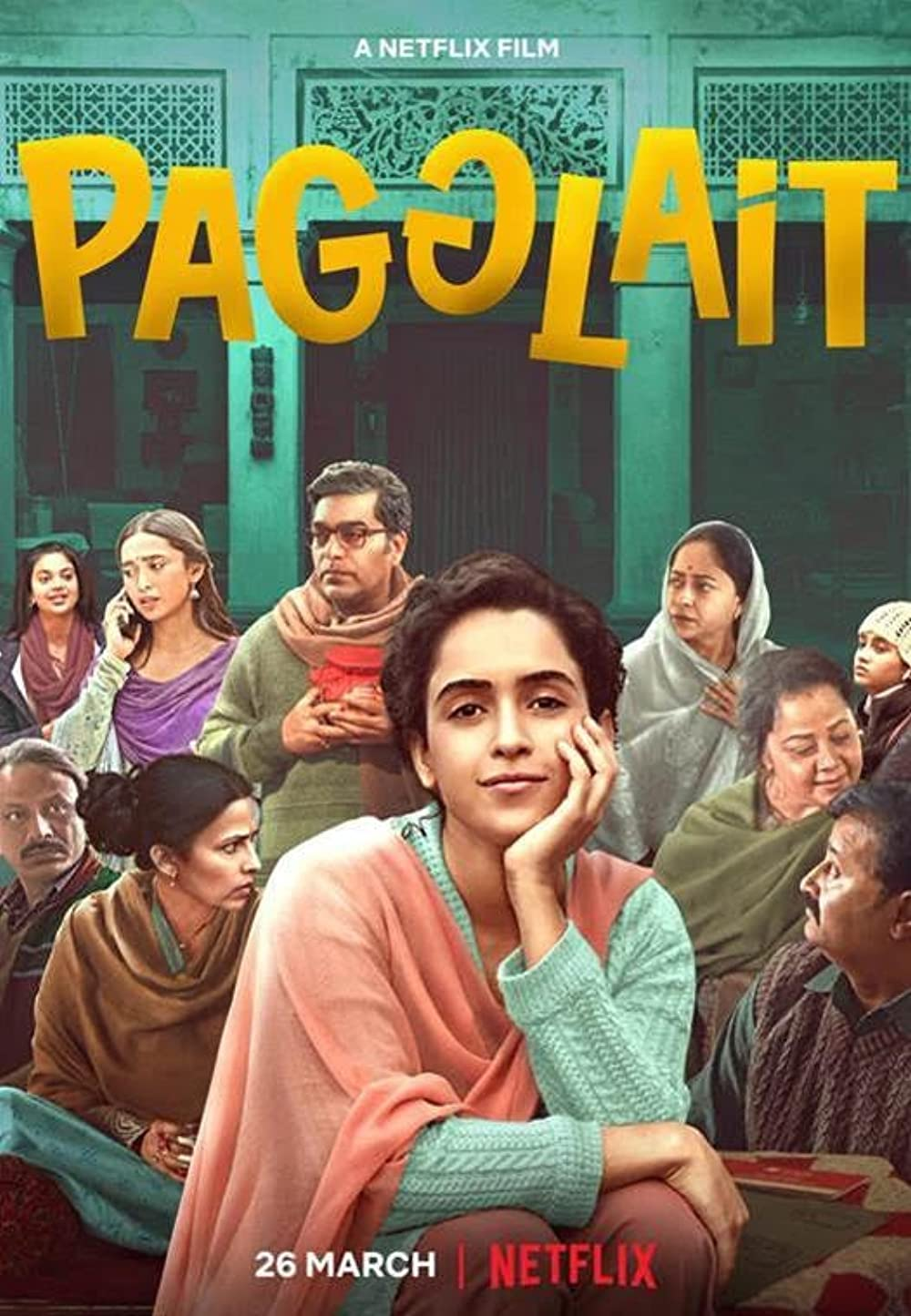 Pagglait 2021 Hindi 720p NF HDRip MSubs 800MB Download