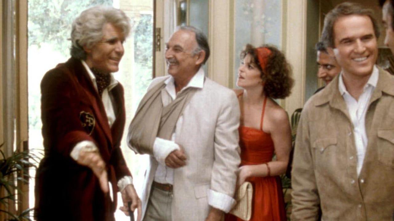 Steve Martin, Charles Grodin, Bill Macy, and Gilda Radner in Movers & Shakers (1985)