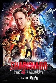 David Hasselhoff, Tara Reid, Ian Ziering, Tommy Davidson, Cody Linley, Masiela Lusha, Ryan Whitney, and Imani Hakim in Sharknado 4: The 4th Awakens (2016)