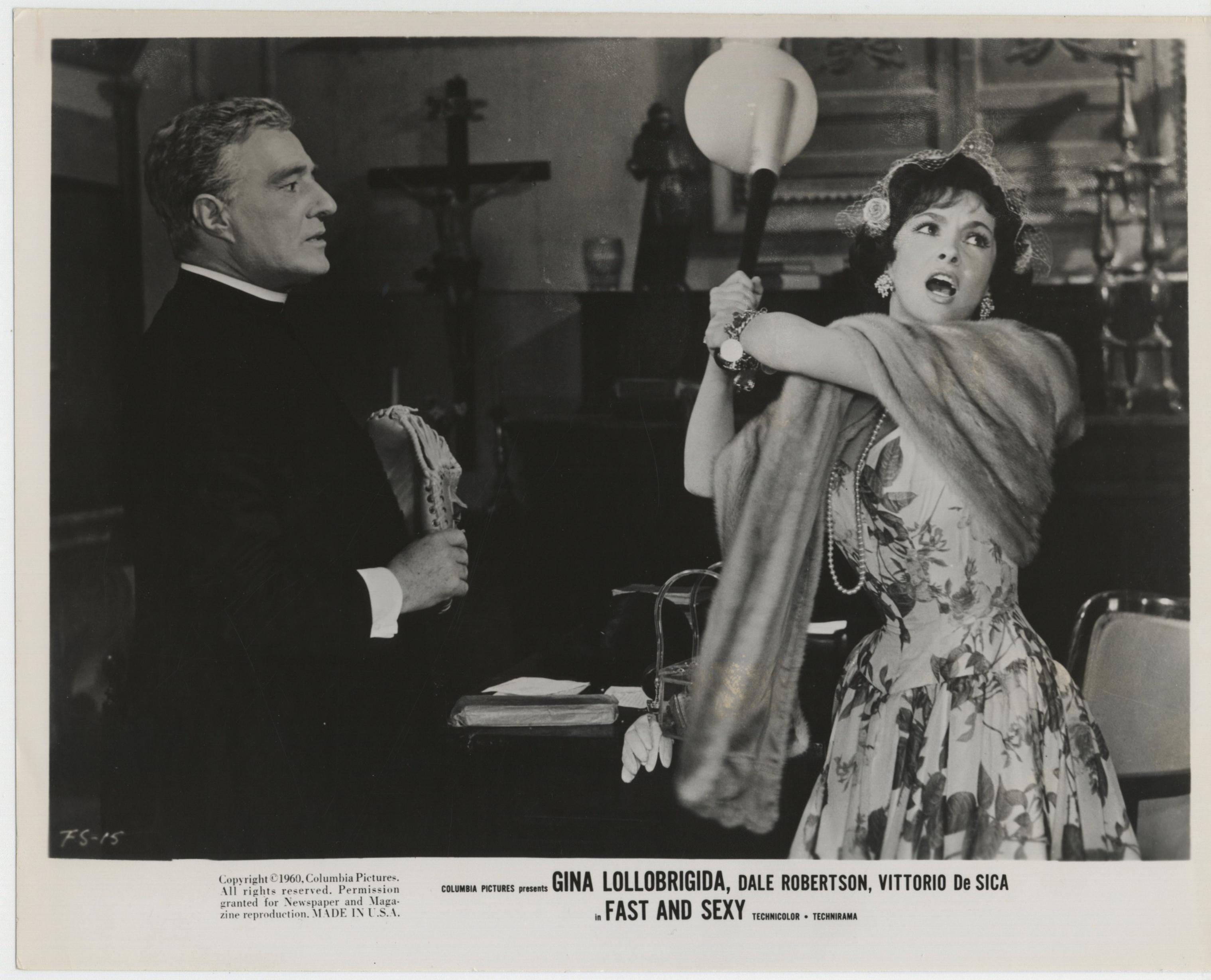 Vittorio De Sica and Gina Lollobrigida in Anna di Brooklyn (1958)