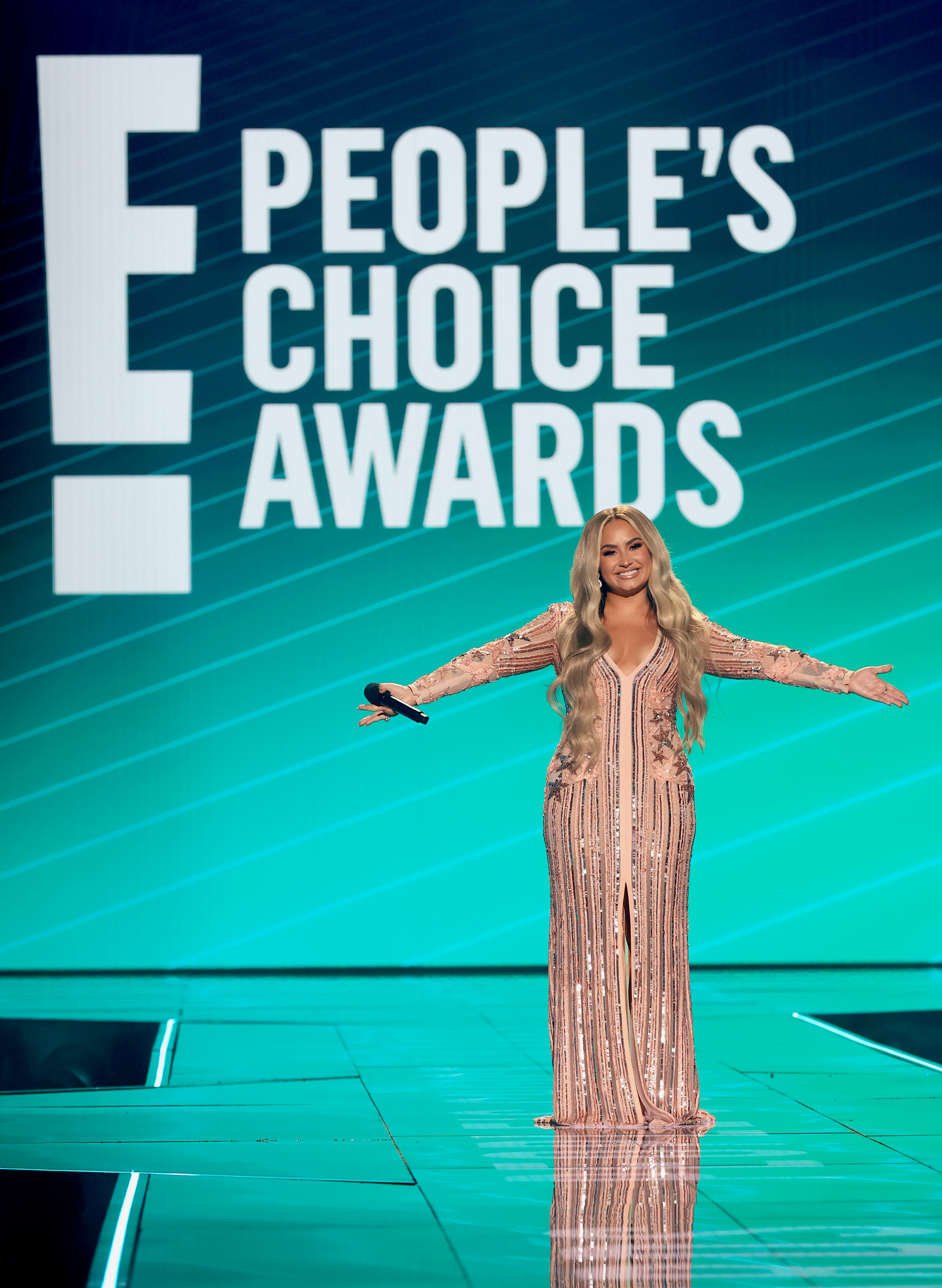 Demi Lovato at an event for The E! People's Choice Awards (2020)