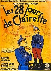 Watch free movie online Les vingt-huit jours de Clairette by [2K]