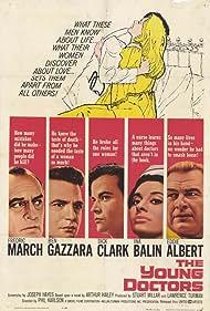 Eddie Albert, Ina Balin, Ben Gazzara, Dick Clark, and Fredric March in The Young Doctors (1961)