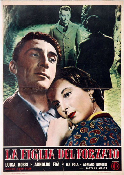 Arnoldo Foà and Isa Pola in La figlia del forzato (1953)